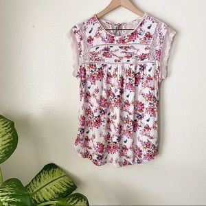 Anthropologie | Nellore Floral Blouse